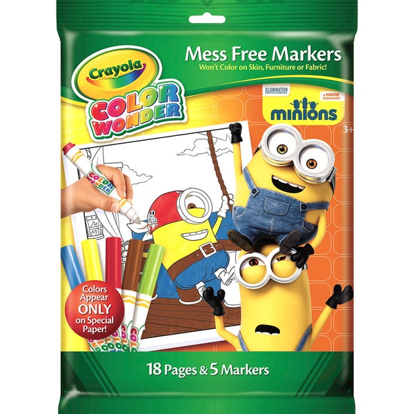 Crayola Color Wonder Coloring Kit Minions