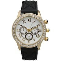 Olivia Pratt Quilted Elegance Rhinestone Watch