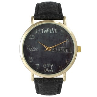 Olivia Pratt Chic Chalkboard Watch