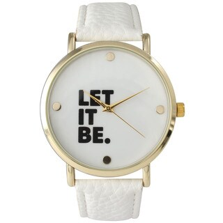 Olivia Pratt Let It Be Leather Watch