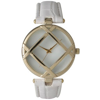 Olivia Pratt Layered Geometric Leather Watch