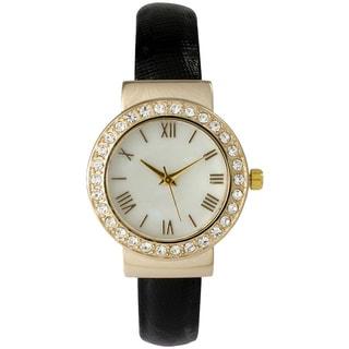 Olivia Pratt Shiny Rhinestone Bangle Watch