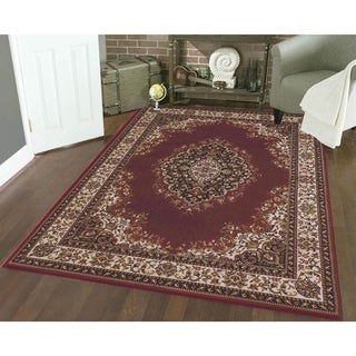Admire Home Living Amalfi Medallion Red Area Rug (3'3 x 4'11) - 3'3 x 4'11