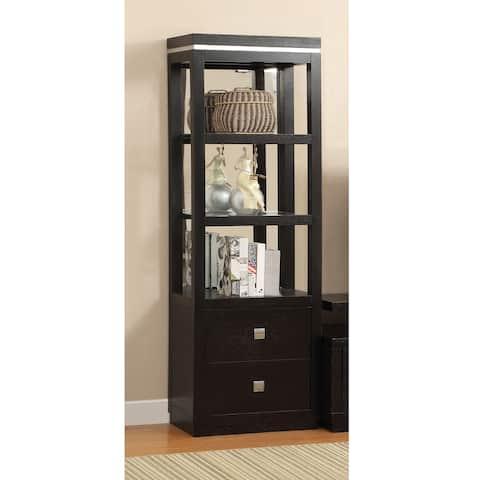 Bausley Modern Black 3-tier Pier Cabinet by FOA