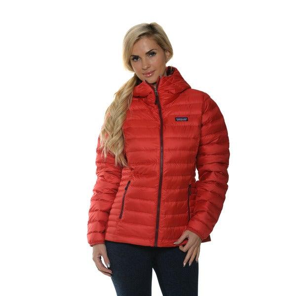 Patagonia Women S Sumac Red Down Sweater Hoodie Free