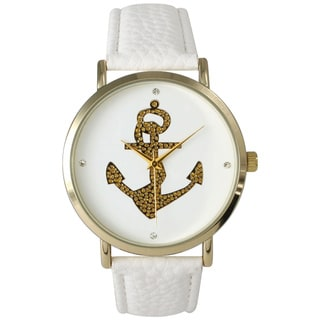 Olivia Pratt Gold Anchor Leather Watch