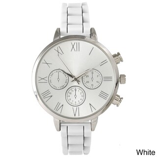 Olivia Pratt Skinny Silicone Classic Boyfriend Watch (More options available)