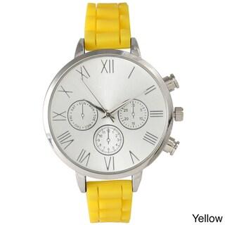 Olivia Pratt Skinny Silicone Classic Boyfriend Watch (Option: Yellow)