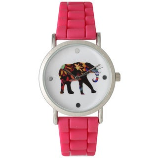 Olivia Pratt Colorful Silicone Elephant Watch