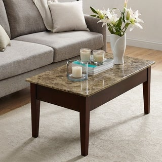 Avenue Greene Dorel Living Faux Marble Lift-top Coffee Table