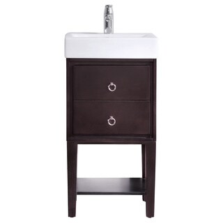 Avanity Kent 18 in. Vanity in Coffee finish with Vitreous China Top
