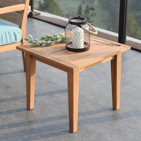 Buy Teak Outdoor Coffee Side Tables Online At Overstockcom Our - Teak outdoor end table