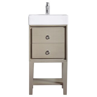 Avanity Kent 18 in. Vanity in Taupe Glaze finish with Vitreous China Top