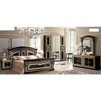 Luca Home Black and Gold Queen Bedroom Set
