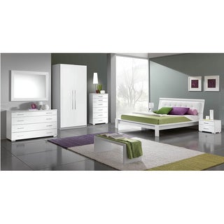 Luca Home White 3-piece Queen Bedroom Set