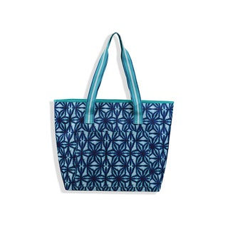 All For Color Indigo Batik Cooler Tote
