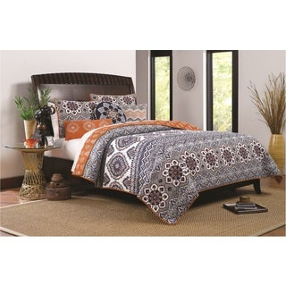 Medina Saffron Reversible Oversized 3-piece Quilt Set
