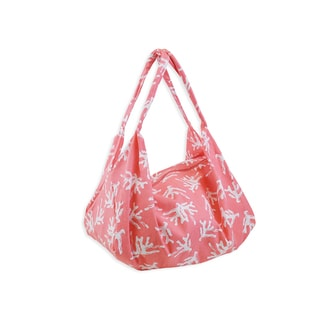 All For Color Sea Coral Hobo Tote Bag