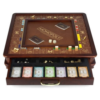 Monopoly Game Luxury Edition - Brown/Yellow