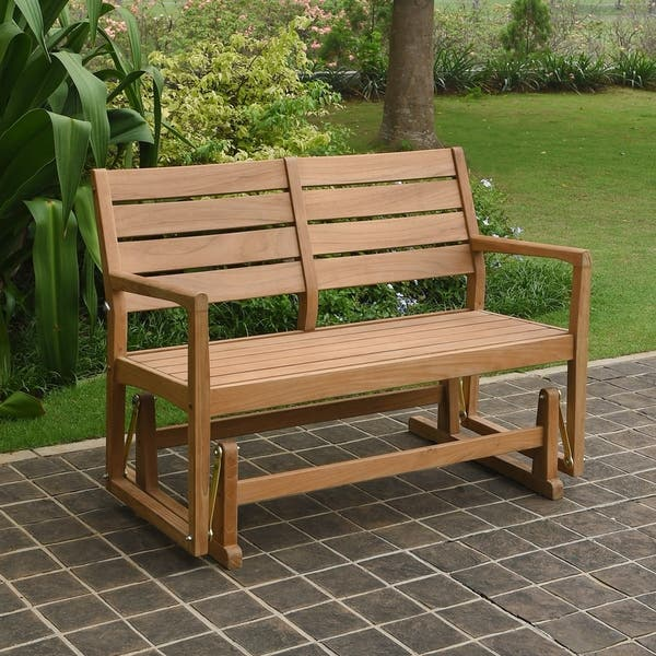 Swell Shop Cambridge Casual Andrea Teak Glider Bench Free Customarchery Wood Chair Design Ideas Customarcherynet