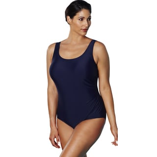 Aquabelle Xtra Life Lycra Navy Side Shirred Swimsuit