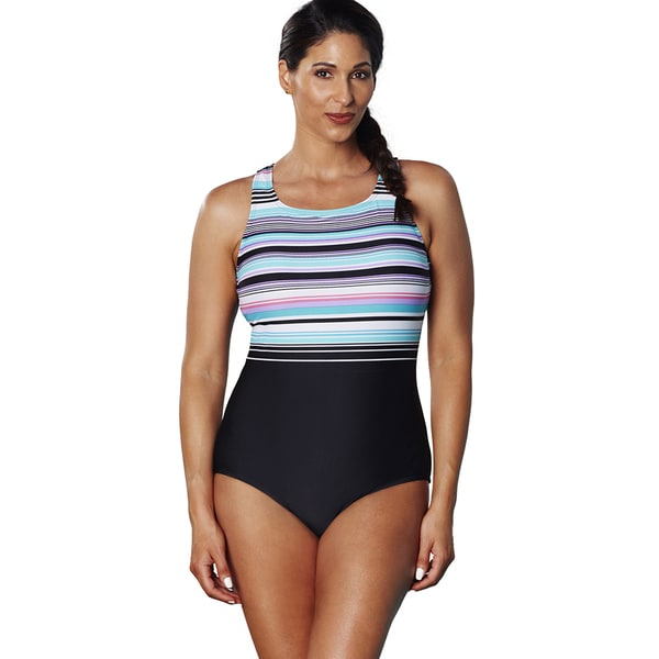 43cb2b69c04 Shop Aquabelle Dive High Neck Swimsuit - Free Shipping On Orders ...