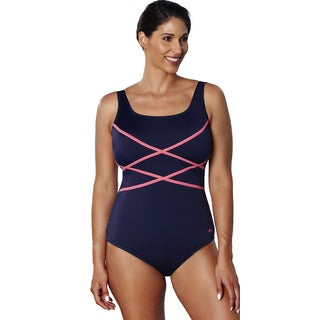 Aquabelle Xtra Life Lycra Coral Crisscross Swimsuit