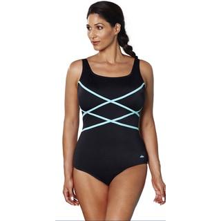 Aquabelle Xtra Life Lycra Mint Crisscross Swimsuit