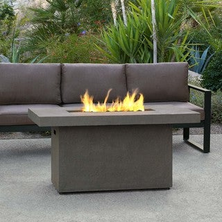 Real Flame Ventura Glacier Grey 49.6 x 32.1-inch Rectangle Chat Height Fire Table