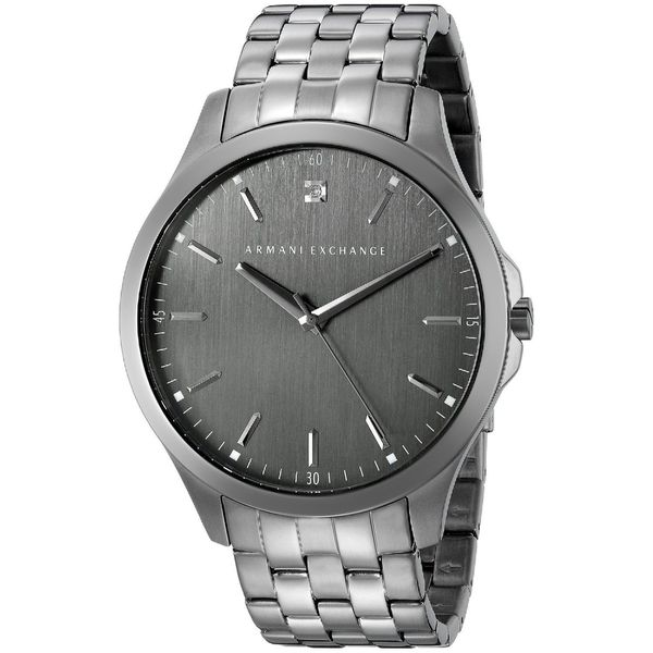 51bbc3c98afc Shop Armani Exchange Men's AX2169 'Hampton' Chronograph Grey Stainless  Steel Watch - Free Shipping Today - Overstock - 11190332