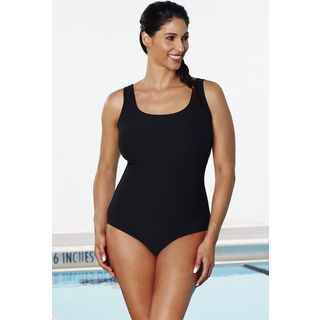 Aquabelle Black Textured Swimsuit