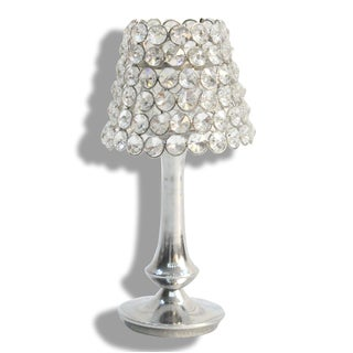 Handmade Alta Home Lamp-shaped Tall Crystal Votive Candle Holder (India)