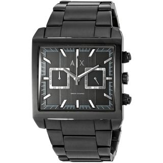 Armani Exchange Men's AX2222 'Tenno' Chronograph Black Stainless Steel Watch