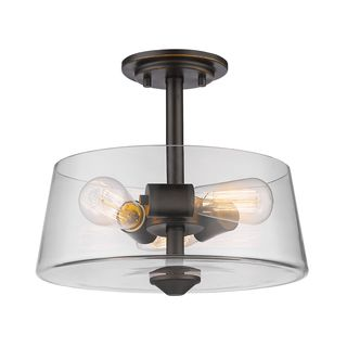 Z-Lite 3 Light Semi Flush Mount in Old Bronze