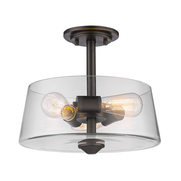 Conical 16 Drum Semi Flush Fixture In 2019: Shop Avery Home Lighting 3 Light Semi Flush Mount In Old