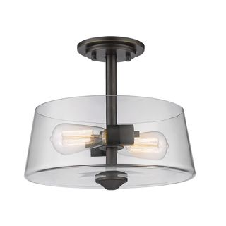 Z-Lite 2 Light Semi Flush Mount in Old Bronze