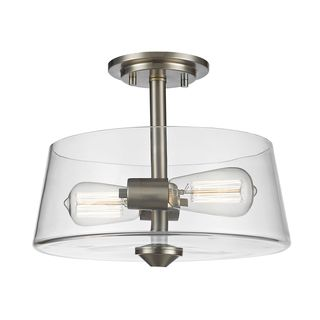 Z-Lite 2 Light Semi Flush Mount in Brushed Nickel