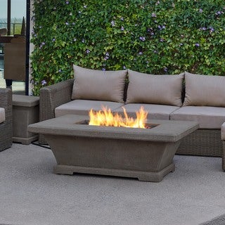 Real Flame Monaco Low Rectangle Fire Table Glacier Gray