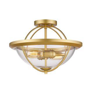 Z-Lite 2 Light Semi Flush Mount in Satin Gold
