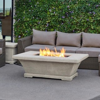 Real Flame Monaco Low Cream 54.9 in. L x 39.2 in. W x 18.3 in. H Fire Table