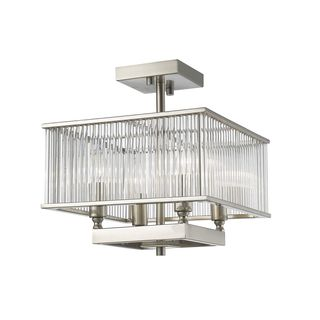 Z-Lite 4 Light Semi Flush Mount in Brushed Nickel