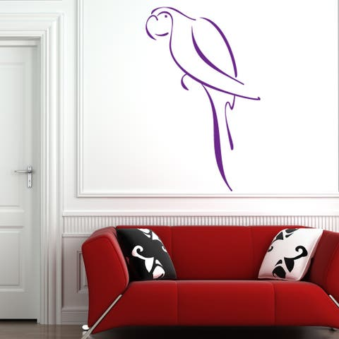 Abstract Parrot Wall Decal Sticker Mural Vinyl Decor Wall Art