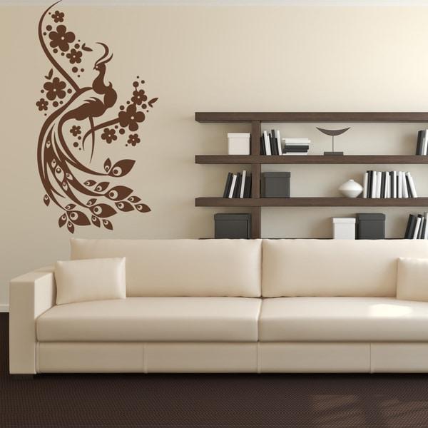 Peacock Wall Decal Sticker Mural Vinyl Decor Wall Art
