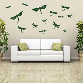 Dragonfly Set Wall Decal Sticker Mural Vinyl Decor Wall Art