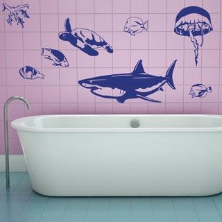 Sea Animal Set Wall Decal Sticker Mural Vinyl Decor Wall Art