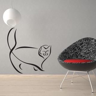 Link to Abstract Persian Cat Wall Decal Sticker Mural Vinyl Decor Wall Art Similar Items in Vinyl Wall Art