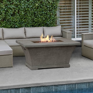 Real Flame Monaco Rect. Chat Height Fire Table Glacier Gray