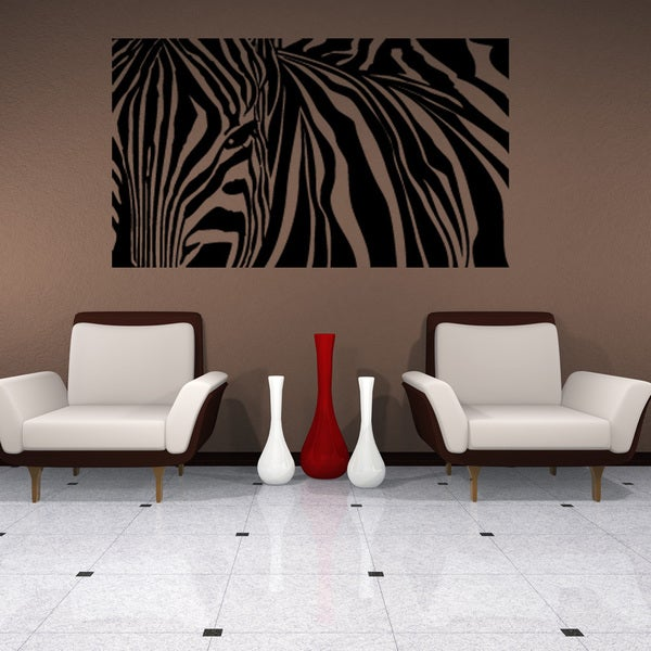 Zebra Stripes Wall Decal Sticker Mural Vinyl Decor Wall Art Free - Zebra stripe wall decals
