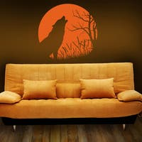 Howling Wolf Wall Decal Sticker Mural Vinyl Decor Wall Art