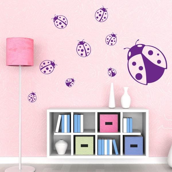 Ladybugs Wall Decal Sticker Mural Vinyl Decor Wall Art - Free ...